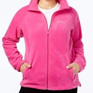 Colombia Pink Fleece Zip Up Jacket